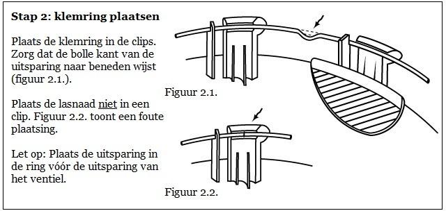 Stap 2: de klemring plaatsen